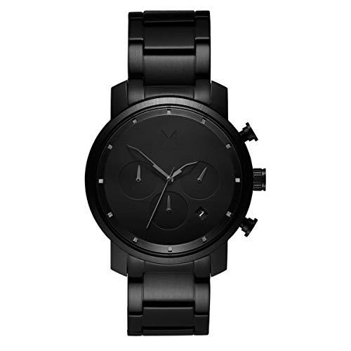 MVMT Chrono Black Link Herren Uhr Armbanduhr Edelstahl MC02-BB