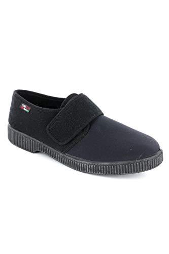 Gaviga 514 - Zapatillas de invierno para mujer, de piel sintética con correa, color negro.