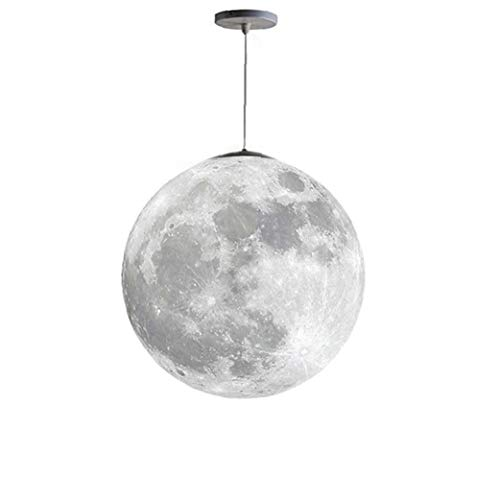 Moon Pendant Lamp 3D Ceiling Light Printing LED Bulbs Planet Chandeliers for Kids Bedroom Office Home Lighting Products