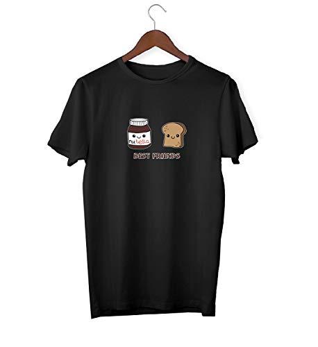 Best Friends BFF Nutellla Butter Bread Mix_KK015905 Shirt T-Shirt für Männer Herren Tshirt for Men Gift for Him Present Birthday Christmas - Men's - Small - Black