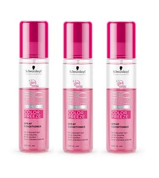 Schwarzkopf BC Bonacure Color Freeze Spray Conditioner SET 3 x 200ml