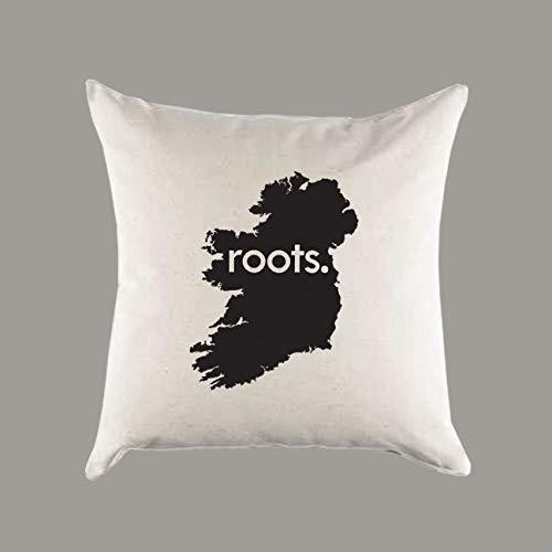 No Brands Stilvoller Kissenbezug mit Irland-Wurzeln, Leinen, Geschenk, Heimdekoration, Geschenk zur Einweihung, Ancestery Homeland Pride
