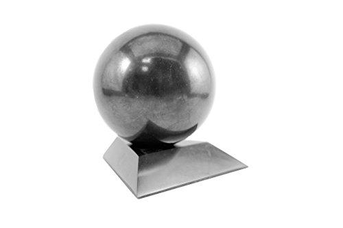 shungite piedra Esfera con un soporte 10cm (3,94pulgadas)