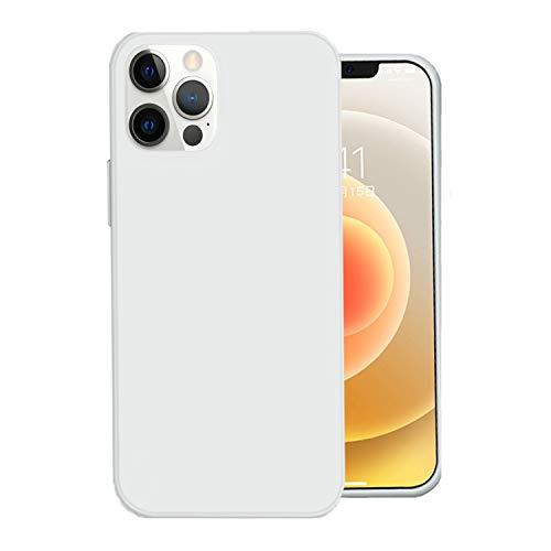Jancyu Funda iPhone 12 Pro Max, de silicona líquida ultrafina, protección completa antigolpes y antigolpes para Apple iPhone 12 Pro Max 2020. blanco Medium