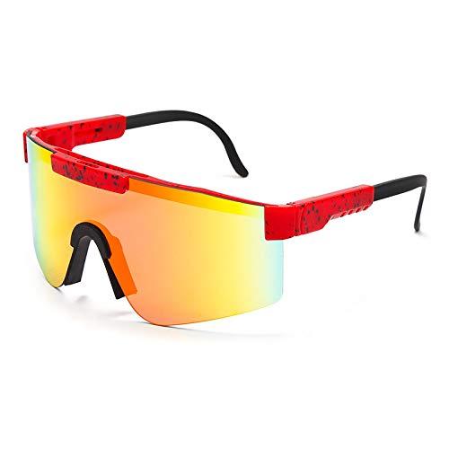 Único Gafas de Sol Sunglasses Gafas De Sol con Parte Superior Plana, Gafas De Sol para Hombres Y Mujeres, Montura Azul,