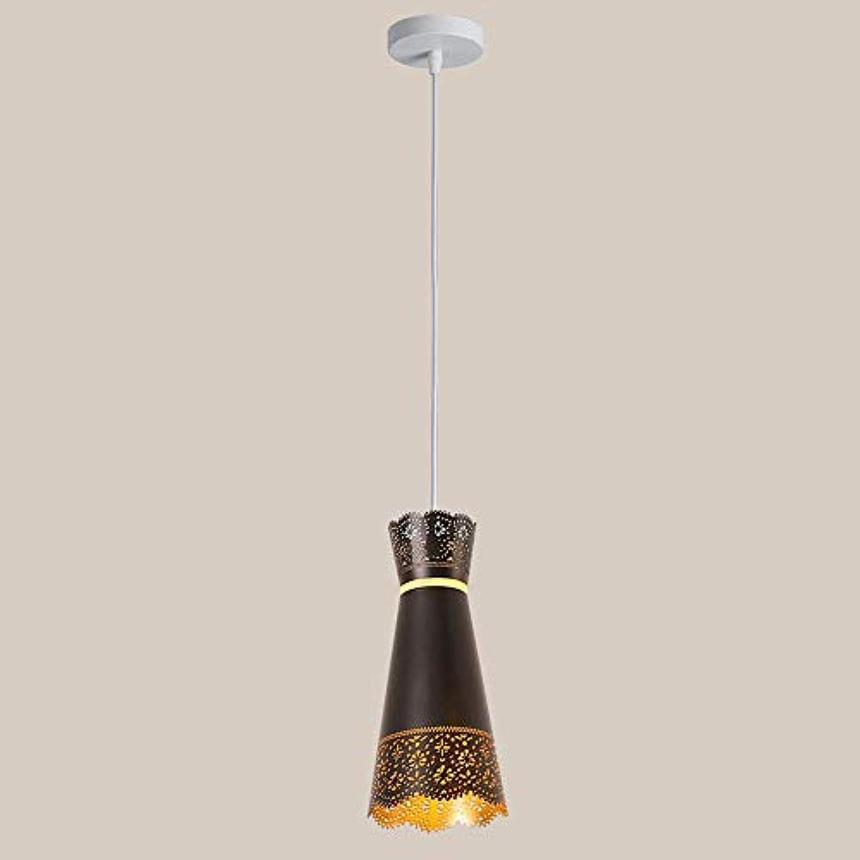 BDYJY  LED Pendelleuchte Mini Eisen Kronleuchter Kreativer Esstisch Hngelampe Nordic Schlafzimmer Korridor Studie Pendelleuchte Deckenleuchte (Farbe  Schwarz)