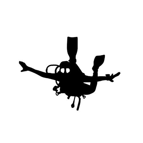 HKSOKLLJJ 3 Piezas de Pegatinas y calcomanías para Coche 14,1 * 10,3 CM Buceo en el mar Vinilo Retro-Reflectante Calcomanías Impermeables Estilo de Coche Calcomanías de Parachoques de Motocicleta