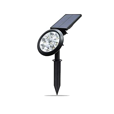 4VWIN Solar Spotlight Outdoor,Ultra Bright Warmwhite/Cool White Light,9 LED Wall/Landscape Solar Lamps Waterproof with Automatic On/Off Sensor for Yard,Garden,Patio,Deck,Driveway