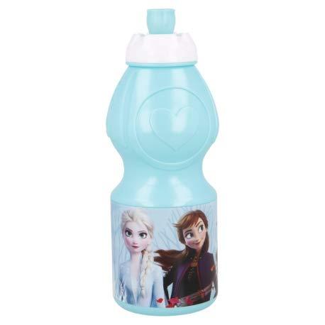 Borraccia Sport in plastica Bottiglia per Bambini 400ML con beccuccio retraibile (Frozen 2)