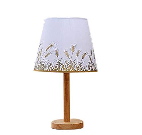 Billaew - Lámpara de mesa con pantalla de lámpara de noche con protección ocular y ahorro de energía