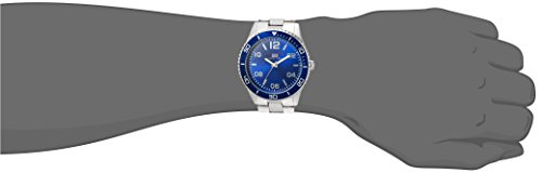 Men's Analog-Quartz Watch with Alloy Strap, Silver, 24 (Model: US8609)