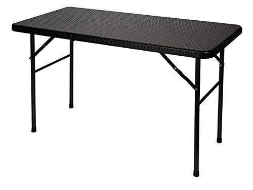 Velleman Mesa Plegable, Imitación Ratán, Negro, 123x63x5 cm, FP120R