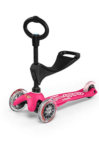 Mini 3in1 Deluxe 3Stage Rideon Micro Scooter Toddler Toys for Ages 12 Months to 5 Years  Pink