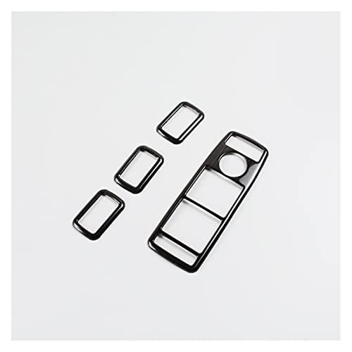 Botones De Interruptor De Elevación De Ventana De Puerta, Molduras Decorativas para M-ercedes para B-ENZ G Class CLS GLE GLS GLK ML GL Molduras Interiores (Color : Negro)