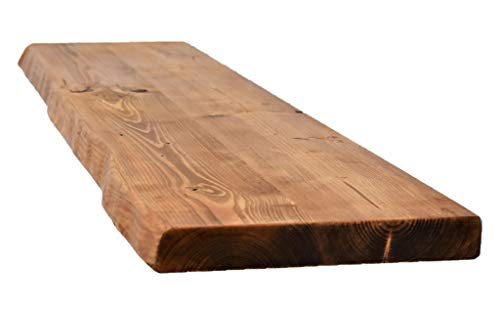Chill House Wayne/Live Edge rustieke wandplank van hout, 29 x 3,5 cm
