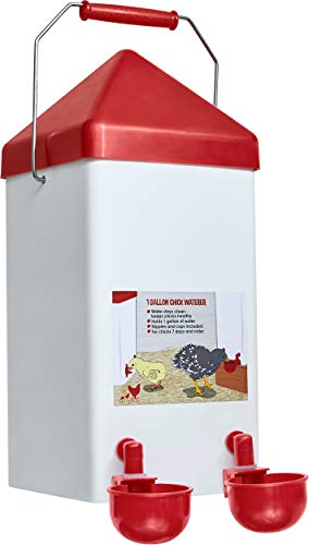 Small Cage Waterer- 1 Gallon Capacity for Chicks/Quails/Pigeons/Gamebirds