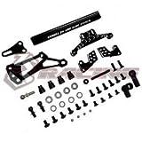3Racing Sakura D4 AWD Aluminum Slide Steering System Black #SAK-D4845/BK