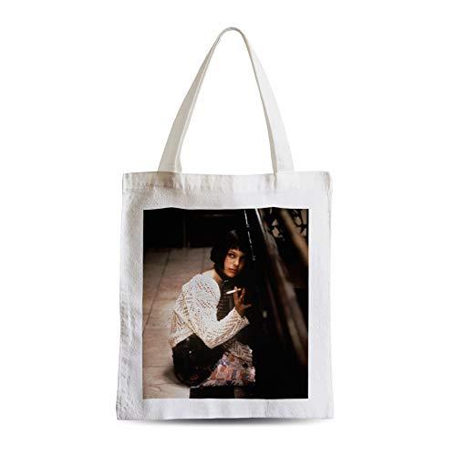 Big Canvas Tot Shopper Bag Natalie Portman Young Leon Cigarette Cinema Star