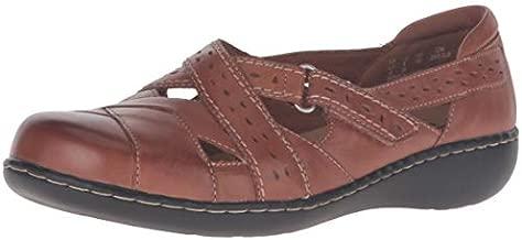 Clarks Women's Ashland Spin Q Slip-On Loafer, Tan, 9 M US