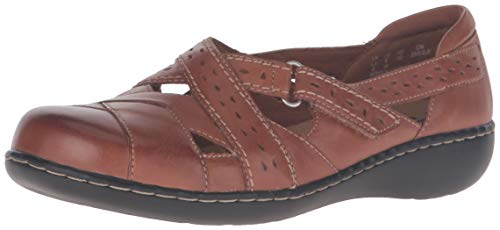 Clarks Women's Ashland Spin Q Slip-On Loafer, Tan, 8 M US