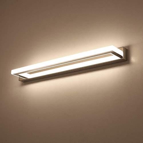 Aplique de pared de acrílico, moderno Aplique de pared LED Baño sobre la lámpara de baño Espejo Luz de tocador Lámpara de espejo de moda cromada Impermeable IP44 4000K 220V para decoración del hogar