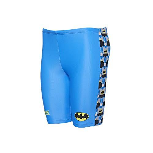 Zoggs - Costume da Bagno da Ragazzo, Motivo: Batman Pogo, Ragazzi, 604619218, Blue/Multi, 1 Anno
