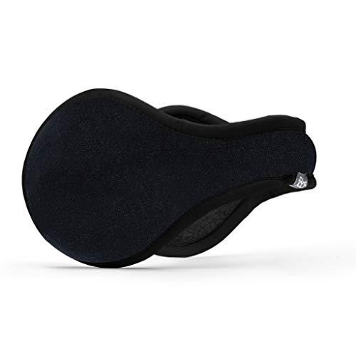 180s Men's Tec Fleece Behind-the-head Ear Warmer, Cold Weather Winter Earmuffs (Black)