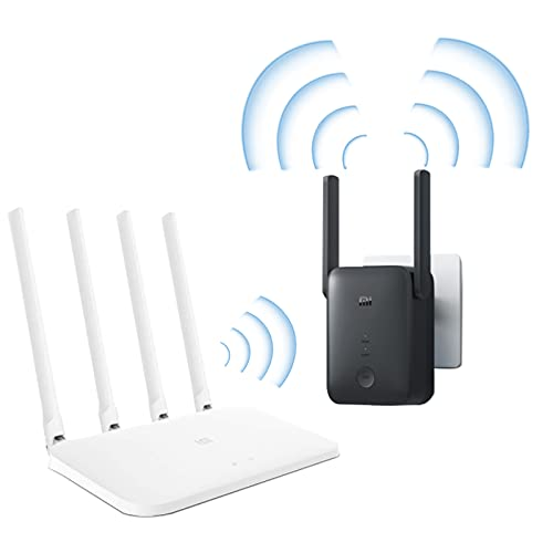 Xiaomi Mi Router 4A, router WLAN 867 Mbps con 5 GHz e 300 Mbps con 2,4 GHz & WiFi Range Extender Pro Ripetitore WLAN, amplificatore WLAN Funziona con tutti i pacchetti di combinazione di router WLAN