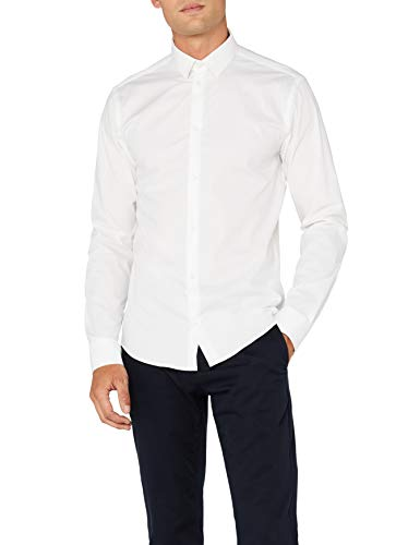 Casual friday chemise pour homme coupe slim business 500924 - Blanc (50105 Bright white) - Large