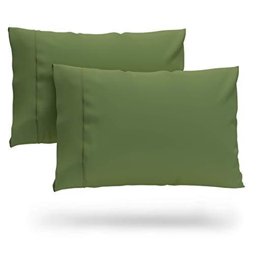 Cosy House Collection Premium Bamboo Pillowcases - King, Sage Green Pillow Case Set of 2 - Ultra Soft & Cool Hypoallergenic Blend from Natural Bamboo Fiber
