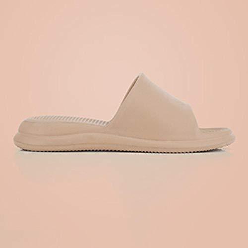 JFHZC Zapatos de Piscina,Zapatillas Casuales Unisex de Eva de Suela Gruesa de Masaje, Zapatillas Antideslizantes para el baño de Pareja en casa-Tea_Brown_39 / 40EU