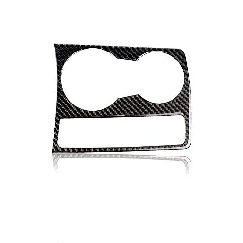 TBJDM Accesorios para El Interior del Coche Car Styling Interior Fibra De Carbono Portavasos De Agua Panel Trim Pegatinas Calcomanías Adecuado para Audi A5 A4 B8 2009-2015 Accesorios