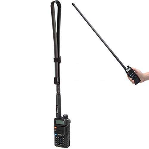 29 Inch Foldable/Tactical Raido Antenna Walkie Talkies Dual Band UV VHF/UHF 144/430Mhz Antennas Two Way Radio Connector for Kenwood Baofeng UV-5R UV82 888S F8HP Retevis H777 by WMM (72 cm)