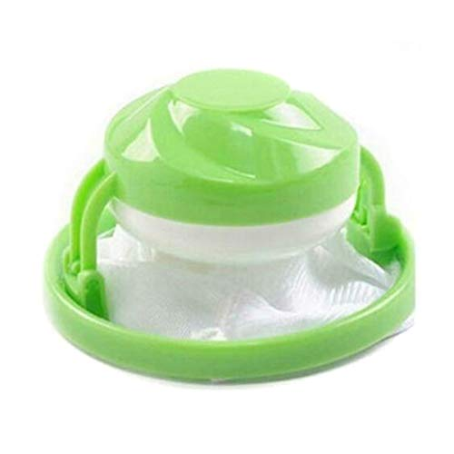 Teekit Waschmaschine, Fusseln, Haarfänger, zum Entfernen von Fusseln, schwimmender Netzbeutel für Zuhause grün