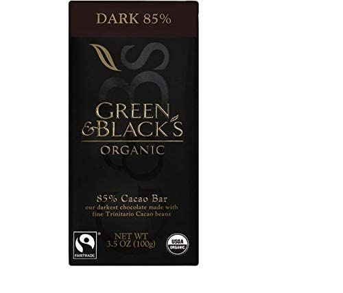 Green & Black's Organic Dark Chocolate 85% -- 3.5 oz - 2 pc