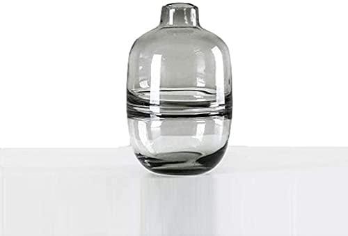 ZXYDD Jarrón grande de cristal de 18 cm, florero de cristal transparente,...