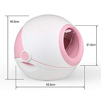 ZCY Couvercle Rabattable Bac À Litière Chat Grand Éclaboussure Désodorisation Chat Toilette, Détachable, Litière pour Chats (Color : Pink)