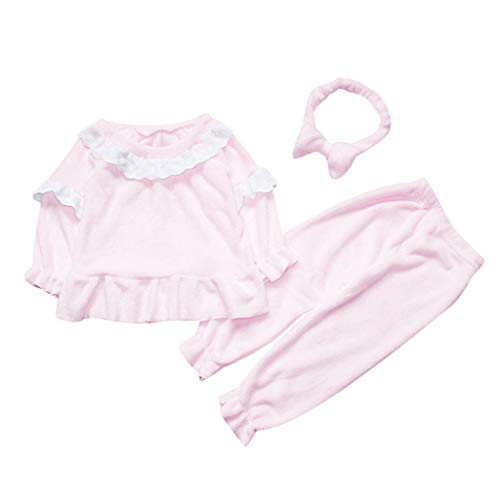 Baby Meisjes Badjas 3 Stks Outfits Sets Peuter Kids Tops+ Pant+ Haarband Flanel Slaapmode Nachtkleding Dressing Jurk Zachte Badjas pyjama Slaapmode Huiskleding voor 1-6 Jaar