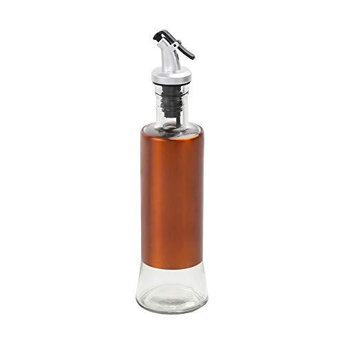 Naranja Dispensador de Aceite y Vinagre para Cocina,Botella Dispensadora Aceite De Oliva, Aceitera De Vidrio,botella de vidrio y acero inoxidable, Vinagrera, Aceiteras, Menaje,Aceitera Antigoteo