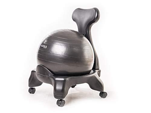 Kikka Active Chair Nera - Sedia ergonomica con Pallone Gonfiabile