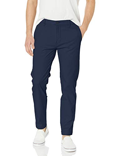 Amazon Essentials Men's Classic-Fit Wrinkle-Resistant Flat-Front Chino Pant, Navy, 38W x 32L