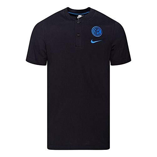 NIKE Inter M NSW Modern GSP Aut Polo Shirt, Hombre, Black/Blue Spark no spon-Player, XL