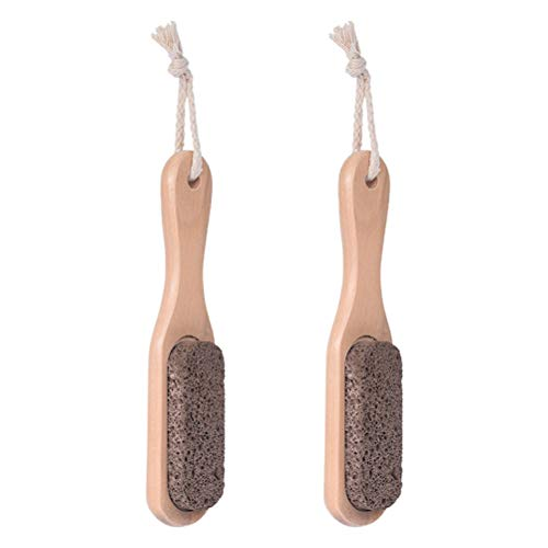 2 pcs Brosses À Ongles Pierre Ponce Brosses SPA Brosses De Nettoyage Nail Cleaning Scrubber Brown (Single Side)