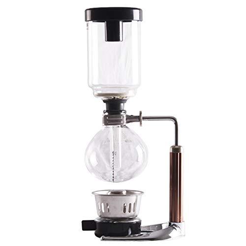 YINAIER Gusto Coffee Machine, Home Siphon Coffee Maker Siphon Pot Set Glass Boiled Coffee Maker Hand Coffee Maker Coffee Maker Machine With Grinder 3servingpots