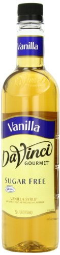 DaVinci Gourmet Sugar Free Syrup Vanilla 25.4 Oz. (Pack of 3), Zero Calorie Sweetener Syrup for Espresso Drinks, Tea, and Other Beverages, Suited for Home, Café, Restaurant, Coffee Shop