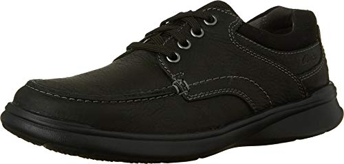Clarks Men's Cotrell Edge Oxford, Black Oily Leather, 10.5 W US