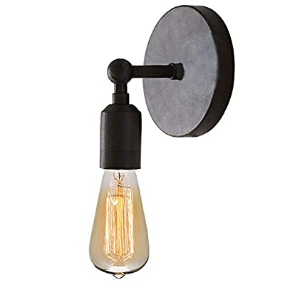 Lightess Black Wall Sconces Lighting Industrial Edison Retro Wall Mount Lamp Home Kitchen Cafe