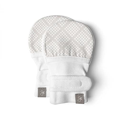 Goumikids Unisex Baby Diamond Dots Mitts -Cream-3-6 Months