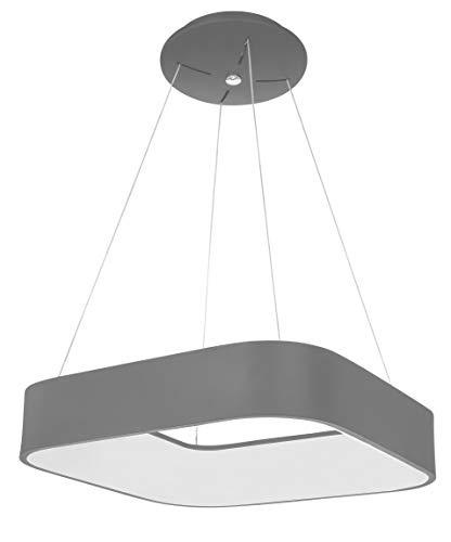 Wofi LED Pendelleuchte GRAND, 1-flammig, 30W, 3400lm, 3000 K, Grau