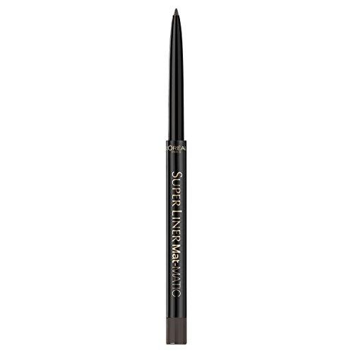 L'Oréal Paris Super Liner Mat Matic, Taupe Grey - präziser Eyeliner mit speziell angereicherten Mikro-Gel Pigmenten - wasserfest & bis zu 12h Halt! - für ein intensives, mattes Finish, 1er Pack